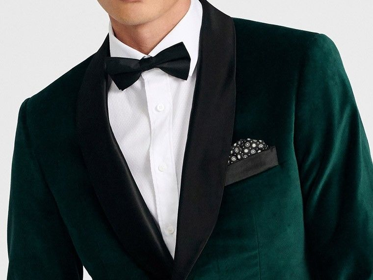 b26ddcc1e Men's Custom Tuxedos - Harford Emerald Velvet Dinner Jacket | INDOCHINO