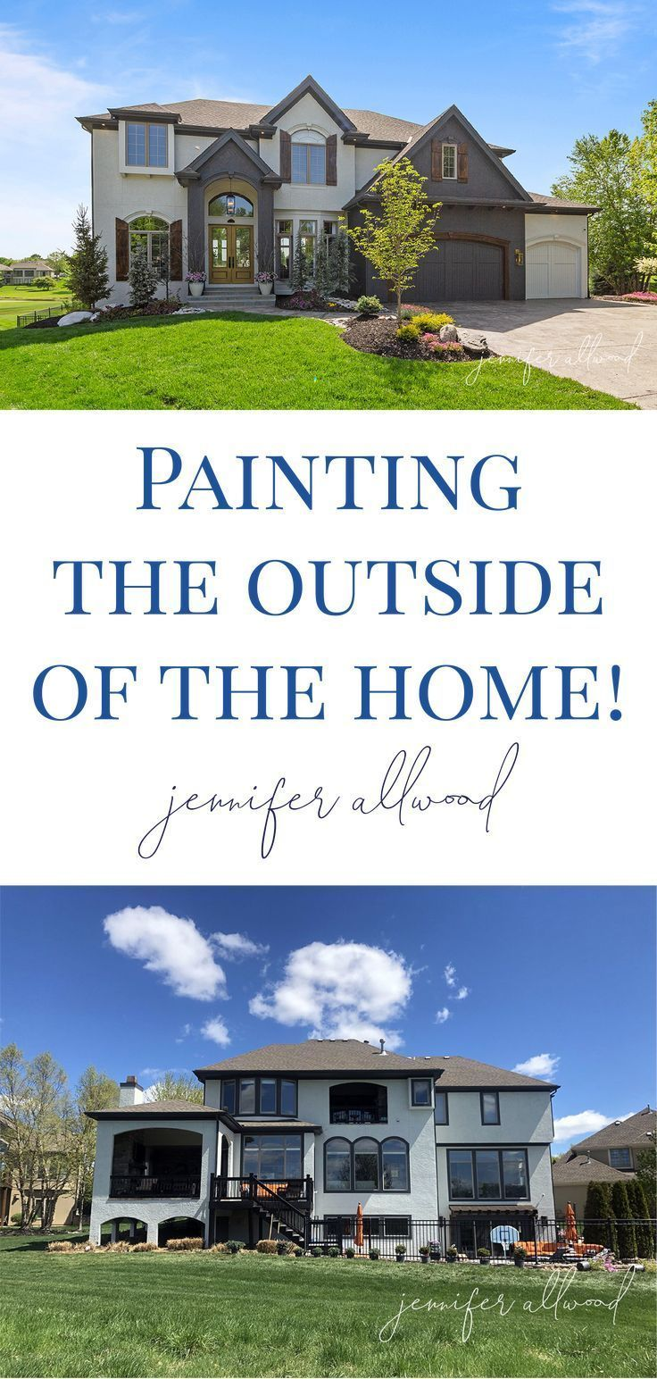 Exterior House Paint Color Blocking Jennifer Allwood Home In 2020 House Paint Exterior House Exterior House Painting
