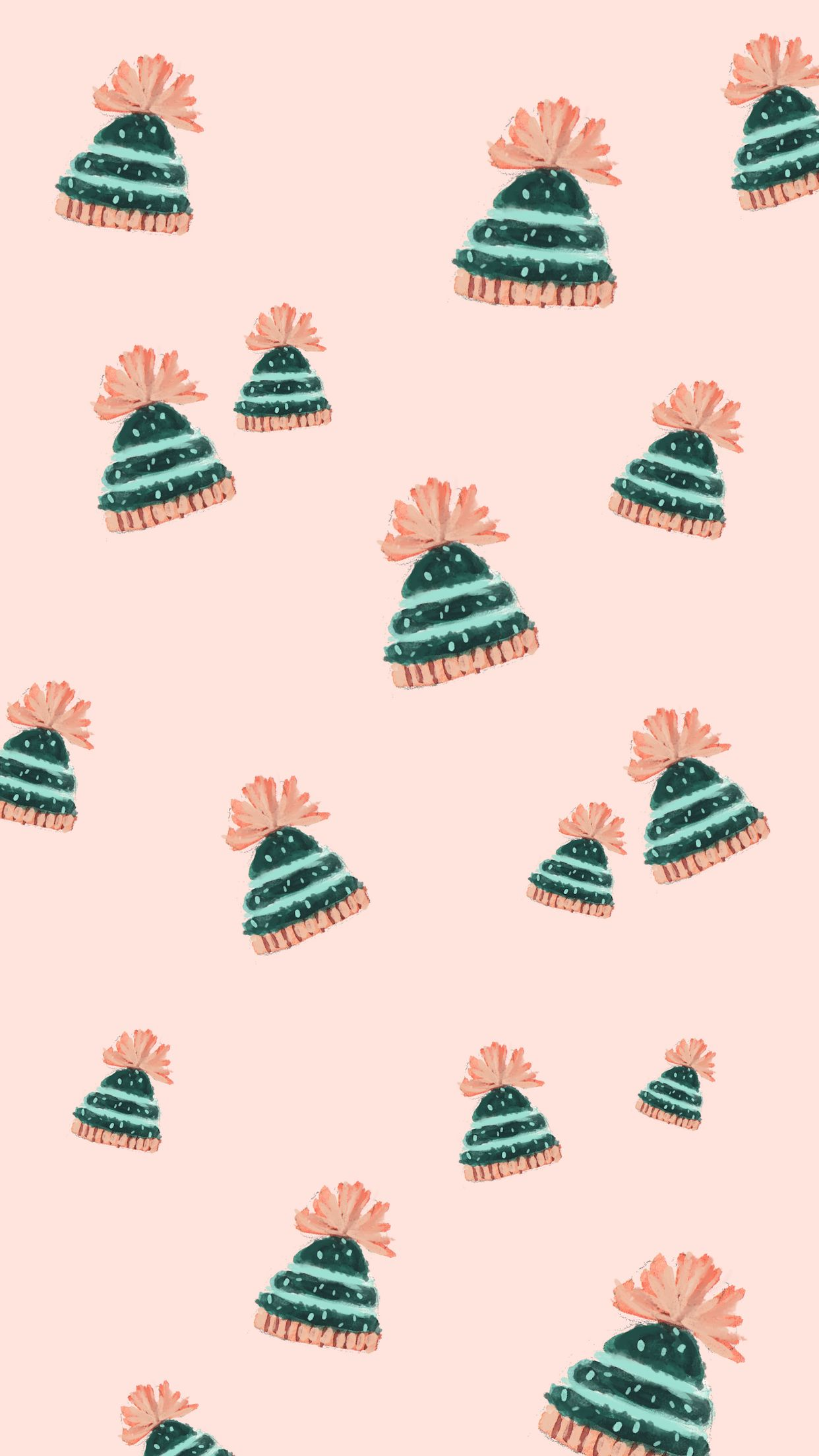 Fun (and free!) Holiday & Winter Phone Wallpapers -  Love and Specs #winterwallpaper
