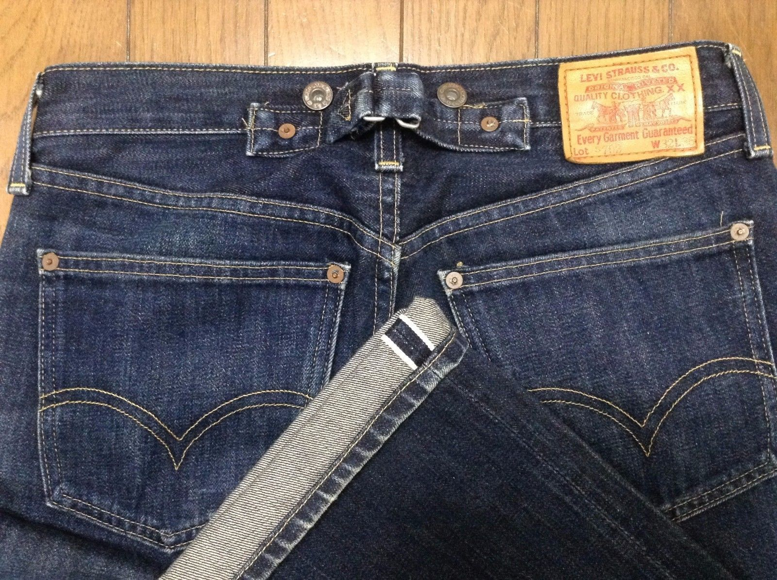 4d508b13d4a RARE 1920 Levis S702 501xx Big E Selvedge Buckle Cinch Back Japan Made LVC  31x27 | eBay