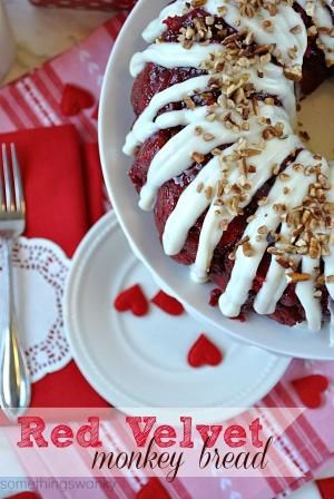 Red Velvet Monkey Bread | We gobbled. this. up. It is absolutely AMAZING. It's soft, and warm, and perfectly gooey. Possibly the best monkey bread I've ever eaten! And SUPER easy! #monkeybread #bread #recipe #redvelvet #valentines by DeeDeeBean