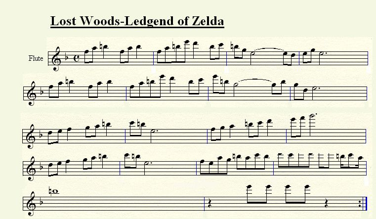 Flute Lost Woods Lost Woods For Flute By Tsuki50 On Deviantart