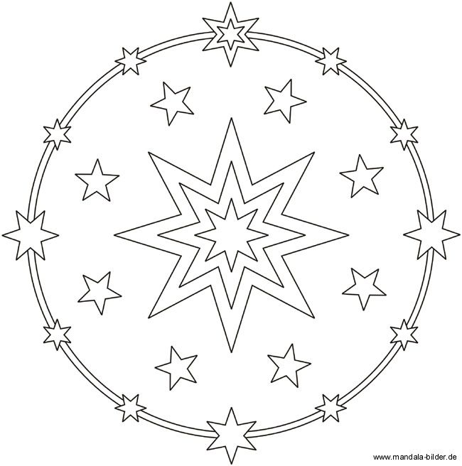ausmalbild mandala  stern  ausmalbild stern