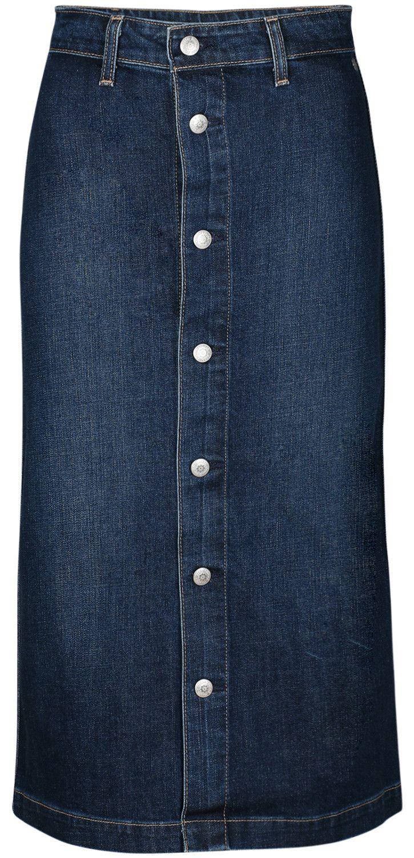 Wadenlanger Jeansrock COOL DENIM SKIRT des amerikanischen Labels AG Jeans.  Limited Edition in Kooperation mit der britischen Stilikone Alexa Chung ba916b16fa