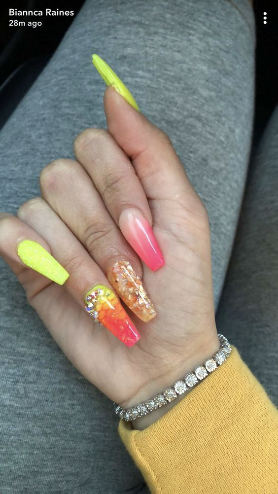 67 Acrylic Gel Nail Art Design Ideas For Summertime Nails