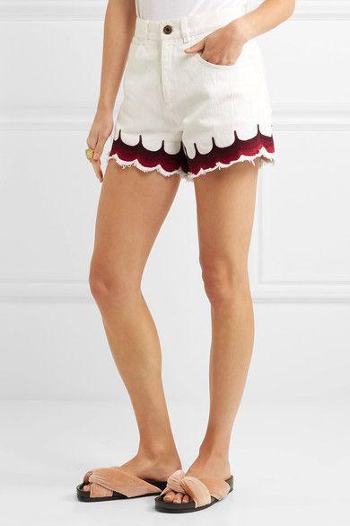 Chloé Button front denim shorts k3Vb6TABl