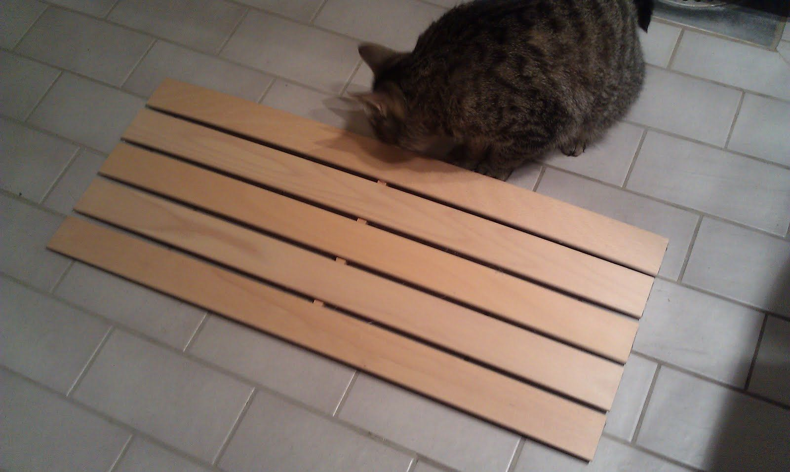 Ikea Hackers Wooden Bathmat Duckboard