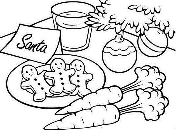 Christmas Coloring Page Gingerbread Man