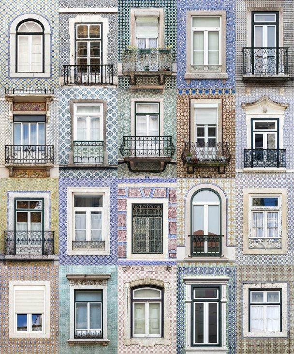 Lisbon windows montage Lisboa e as suas janelas