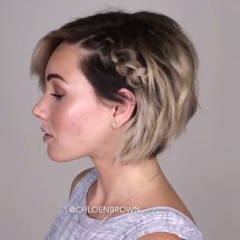 Short Girl Hairstyles Undercut Braids