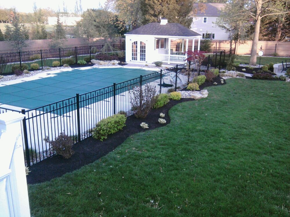 Refreshing A Swimming Pool Landscape All About The House Inground Pool Landscaping Backyard Pool Landscaping Swimming Pool Landscaping