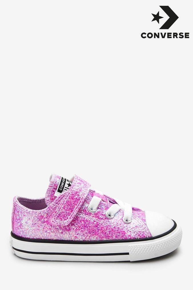 pink glitter infant converse