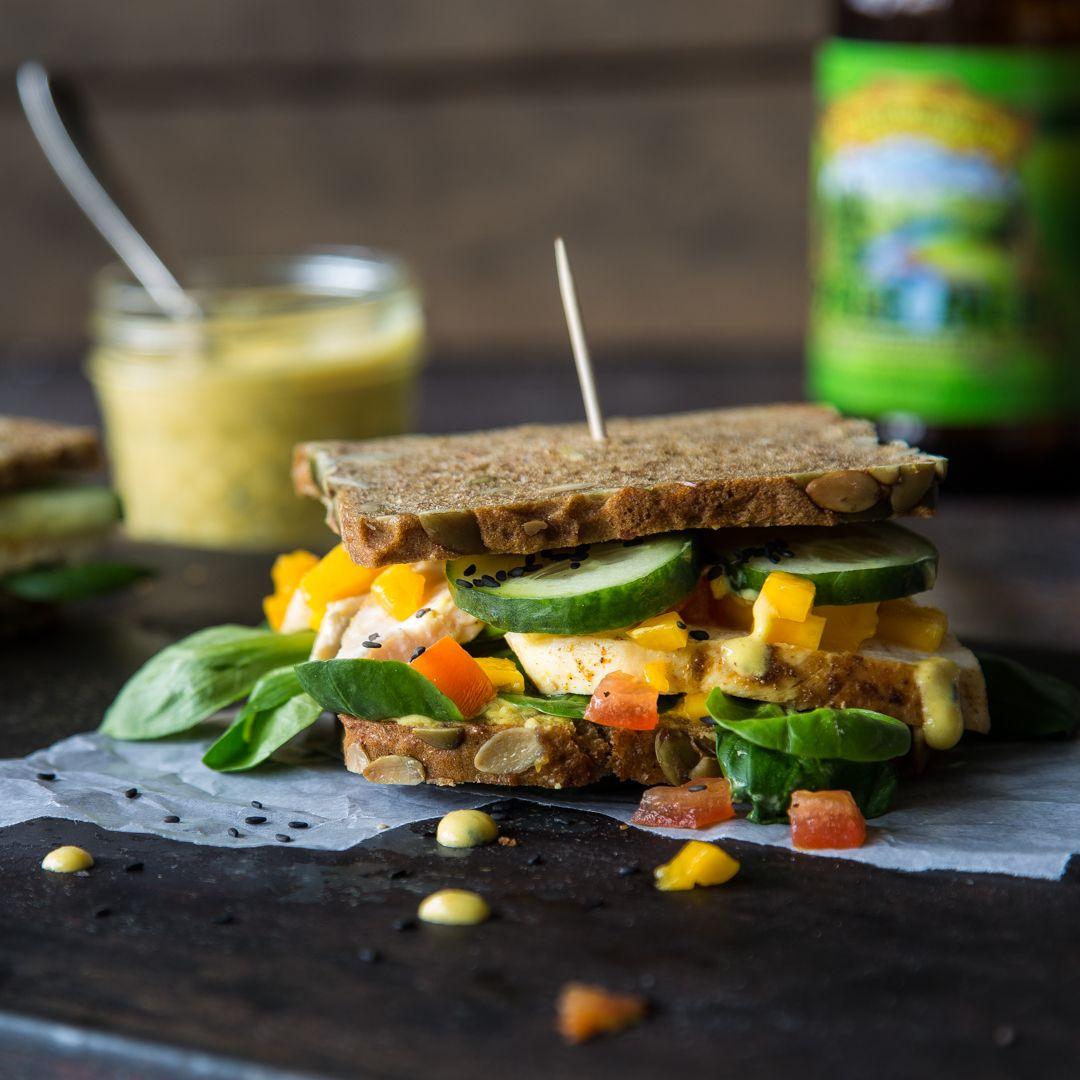 Sandwich mit Hähnchen und Curry-Mango-Dressing | Rezept ...