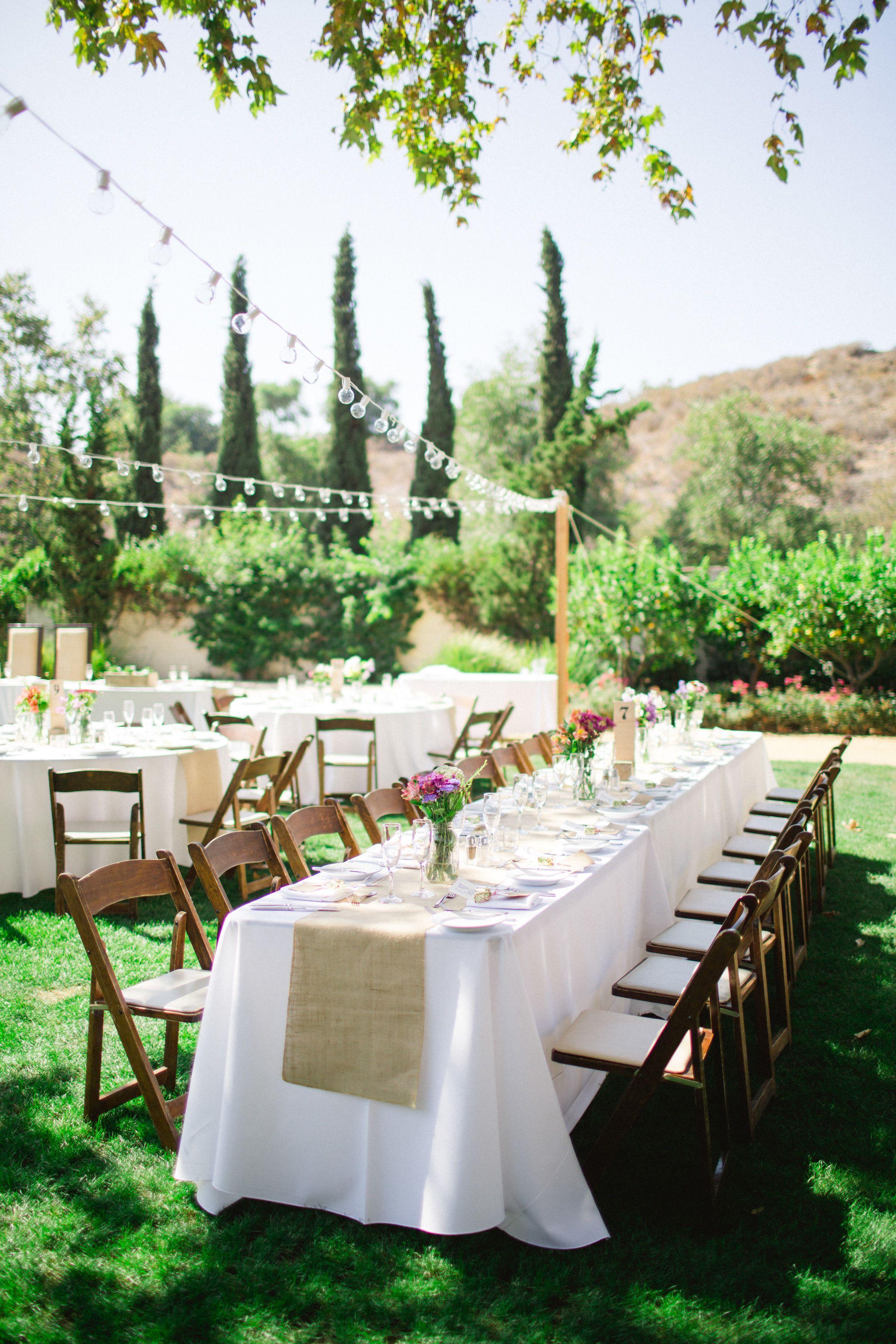 Summer Outdoor DIY Wedding in Mission Viejo | Diy outdoor ...