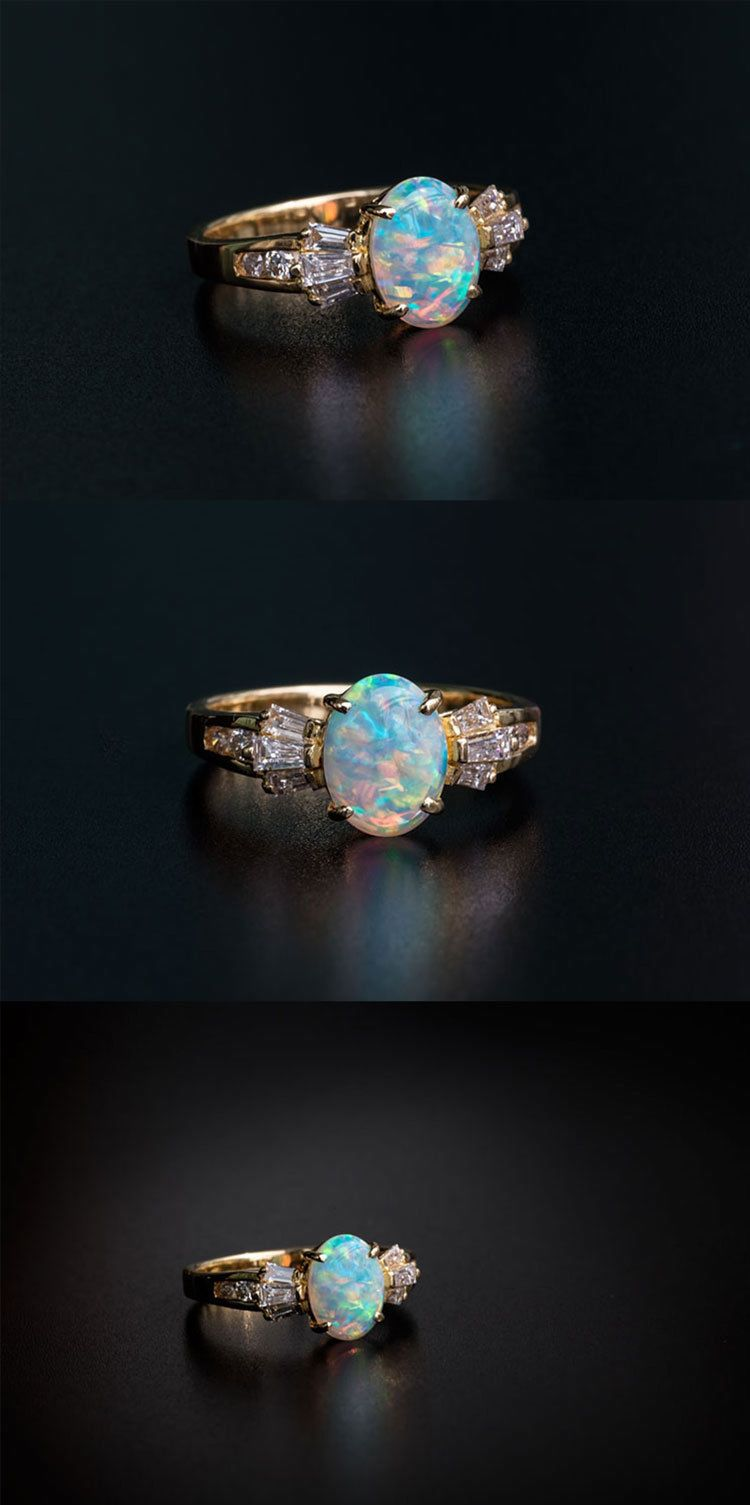 Details about lotus blossom mexican fire opal diamond