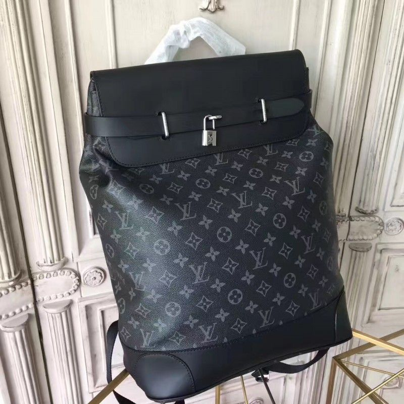 7755370c7530 Louis Vuitton Steamer Backpack Monogram Eclipse Canvas M44052   SteamerBackpack