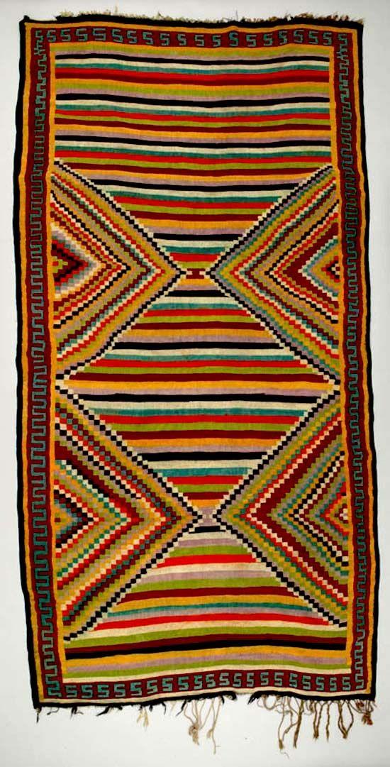 Folksielady Africa Floor Rug From Sidi Bou Zid Tunisia
