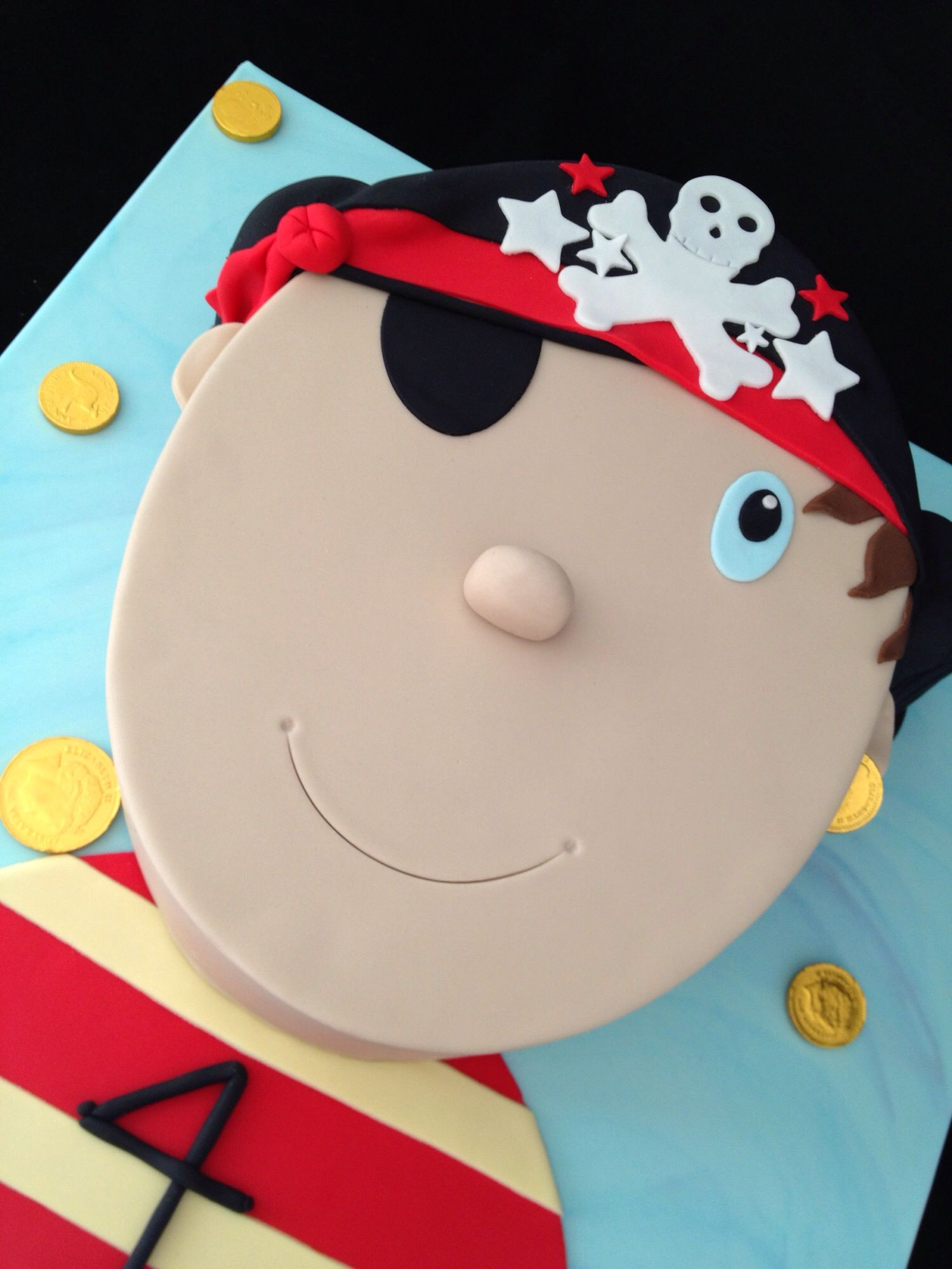 Pirate Face Birthday Cake Party Food Ideas Pinterest Pirate