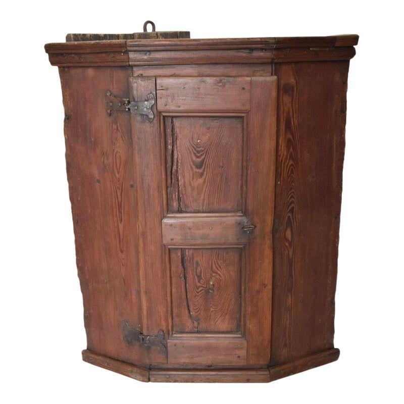 Swedish Pine Corner Cupboard Corner Cupboard Rustic Corner Cabinet Cupboard