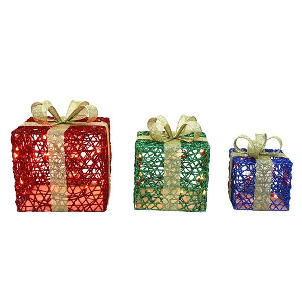 Holiday Living 3-Piece Lighted Gift Box Outdoor Christmas Decoration Set |  Lowe's Canada - Holiday Living 3-Piece Lighted Gift Box Outdoor Christmas Decoration