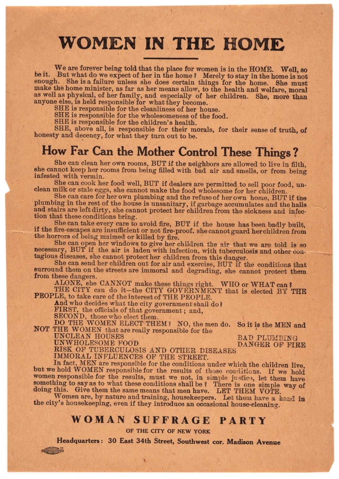 Woman Suffrage Party Of The City Of New York Women In The