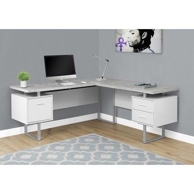 Upper Square Sova 3 Drawer L Shape Executive Desk Wayfair L Shaped Corner Desk Corner Computer Desk L Shaped Executive Desk