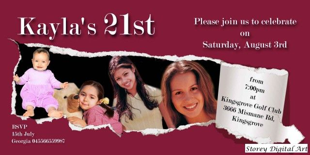 21st invite templates
