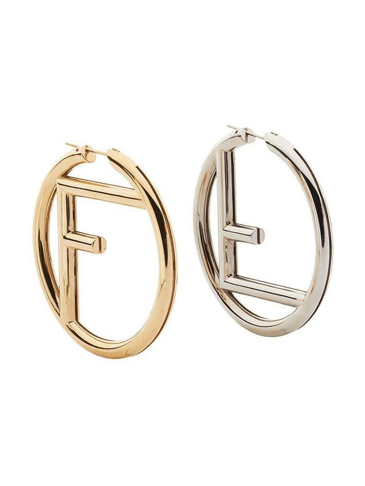 1c35b37fbfbdf3 fendi earrings logo hoop   Beauty Jewelry ideas   Earrings in 2019 ...