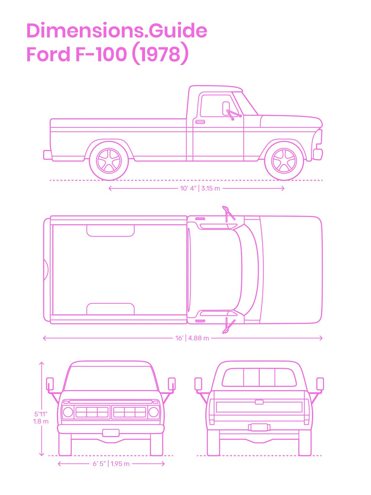 The Ford F 100 1976 Is A Sixth Generation Medium Duty Pickup