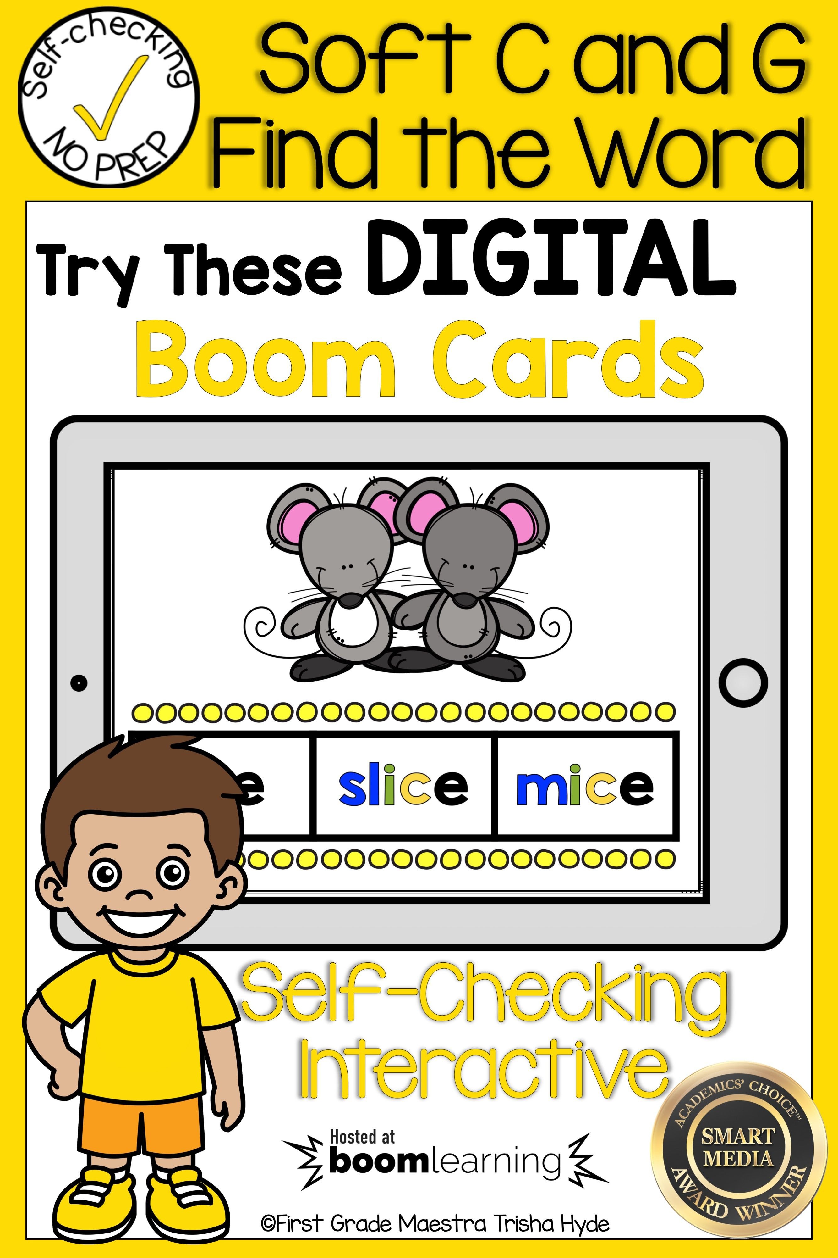 Boom Cards Soft C And G Find The Word