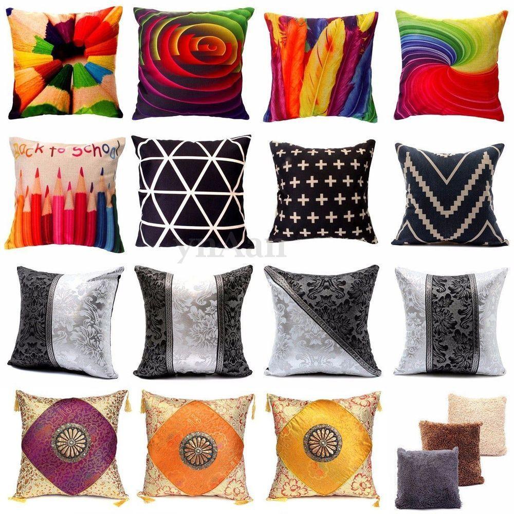 housse de coussin taie d oreiller canap d cor maison. Black Bedroom Furniture Sets. Home Design Ideas