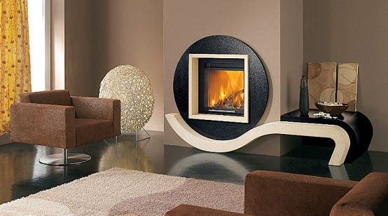 Liberty Square Circle Geometric Combination Cladding For Brown Contemporary  Living Room Fireplace Part 36