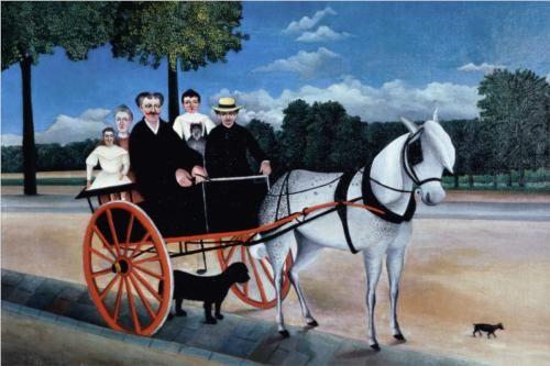 Henri Rousseau, La carriole du Pere Junier, 1908 루소 이웃의 집단초상화