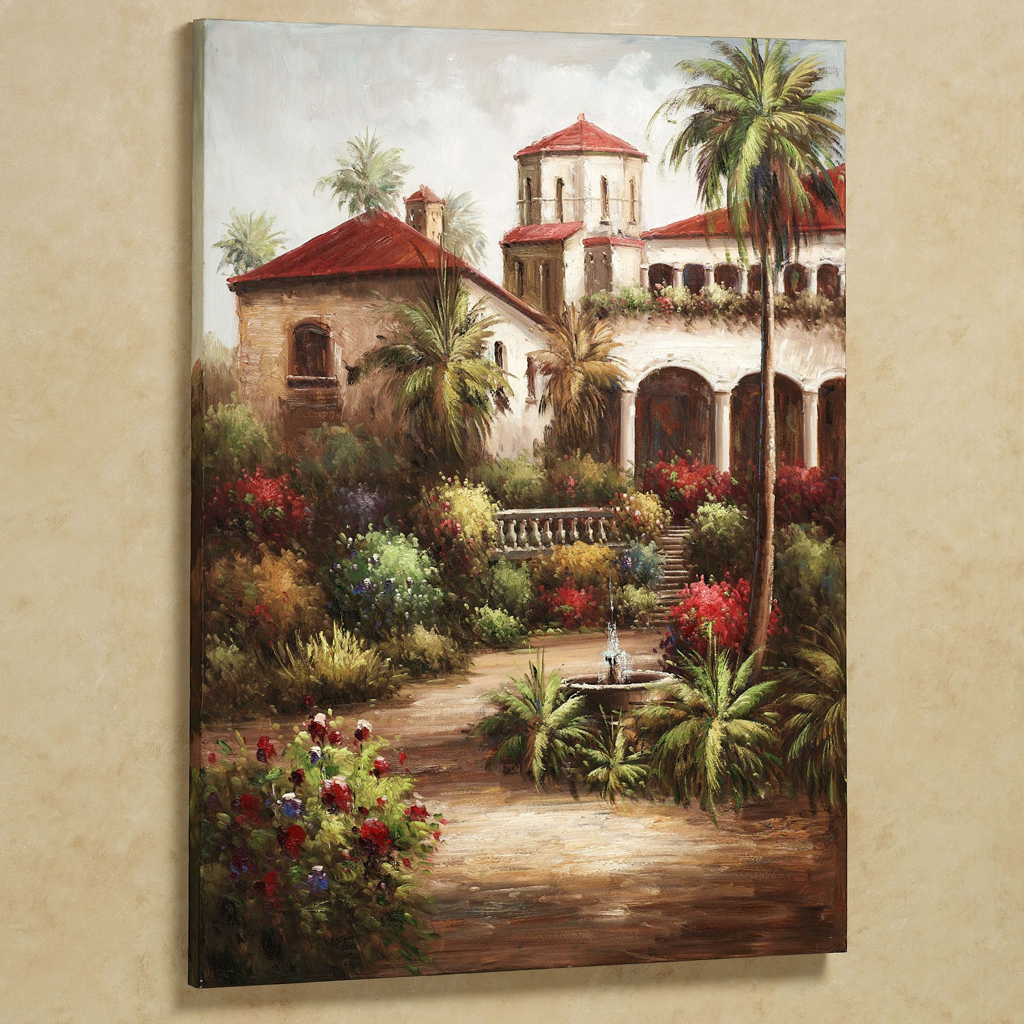 Tuscany Wall Art | Tuscan Garden Canvas Wall Art