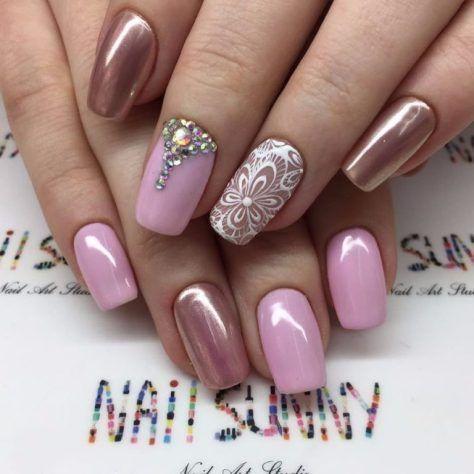 Top 100 gel nail art part 4 – Gentle nails photos - Top 100 Gel Nail Art Part 4 – Gentle Nails Photos Gel Nail Designs