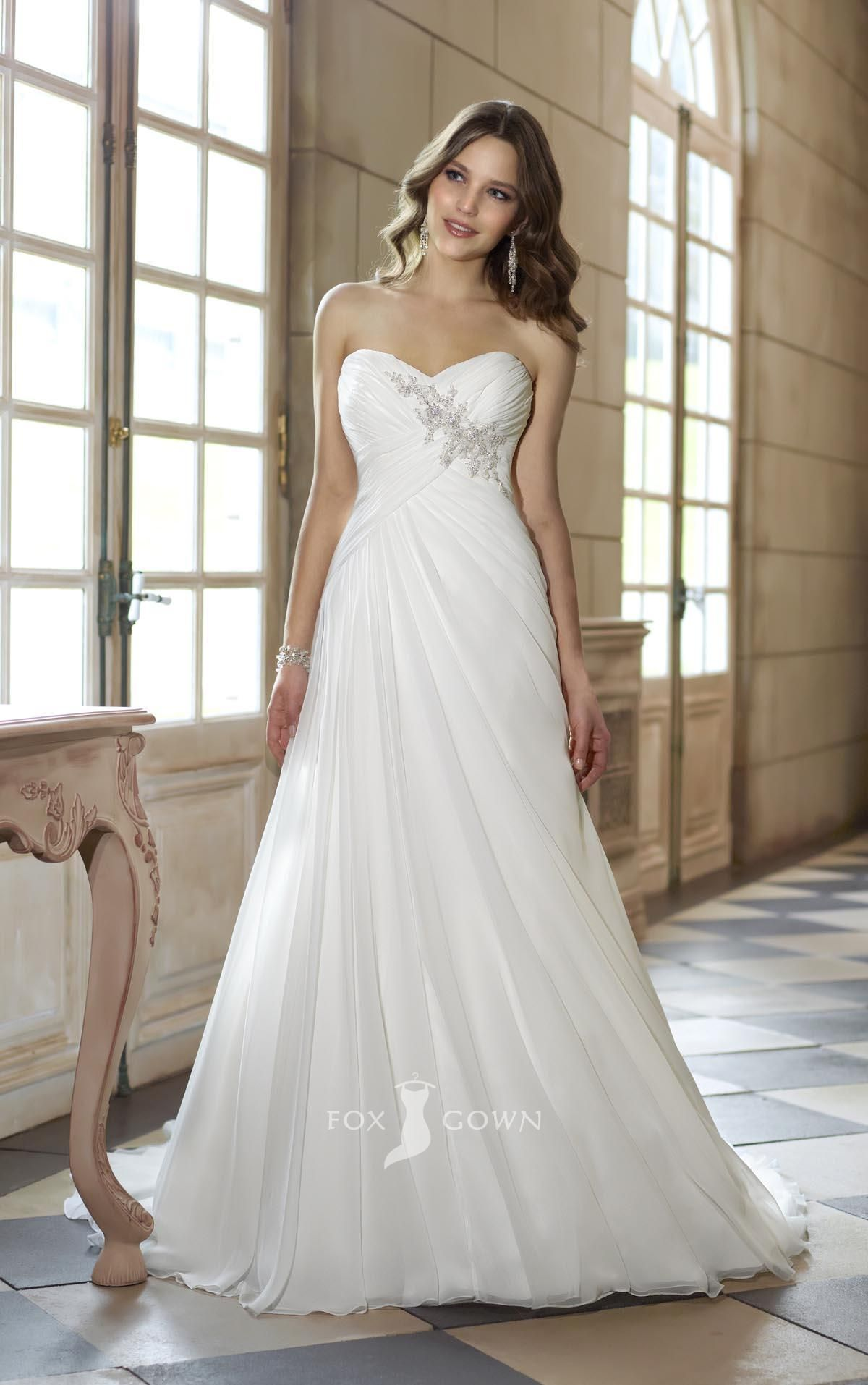 Strapless sweetheart a line empire asymmetrical pleated