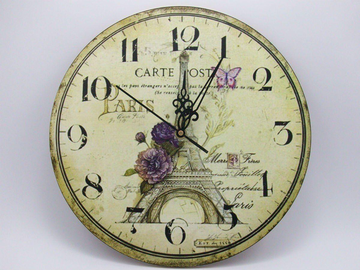 Relojes De Pared Deco Vintage En Madera - $ 179,99 en MercadoLibre ...