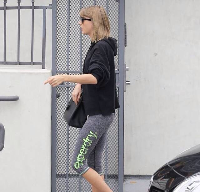Taylor Swift and at the gym in Los Angeles