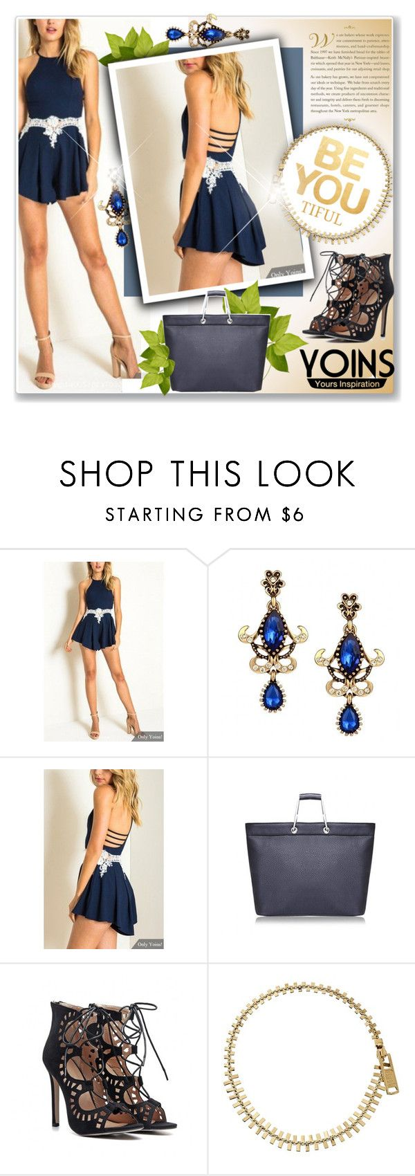 """Yoins contest-playsuit with Lace Detailes"" by oleahg ❤ liked on Polyvore featuring Marc by Marc Jacobs and yoins"