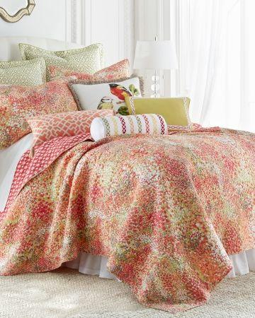 Paint Daub Ikat Print Quilt Collection, Nina Campbell Holiday Bedding