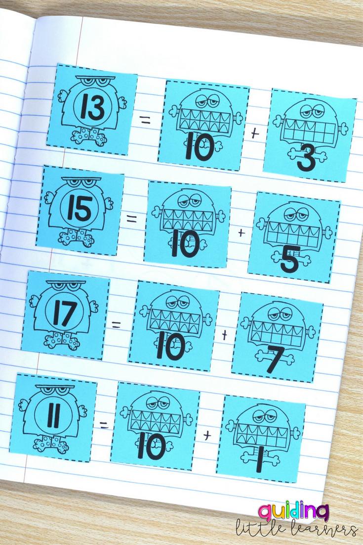 Interactive Math Journals 1st Grade BUNDLE   Decomposing numbers ...