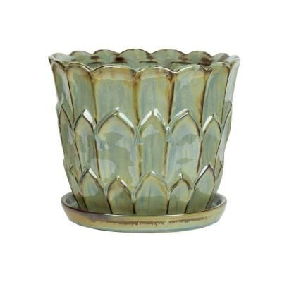 Central Garden And Pet 10 In Ceramic Artichoke Planter 100523132 The Home Depot Planters Resin Planters Decorative Pots