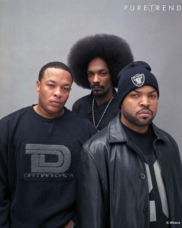 The West Coast rap legends Dr. Dre, Snoop Dogg,  Ice Cube