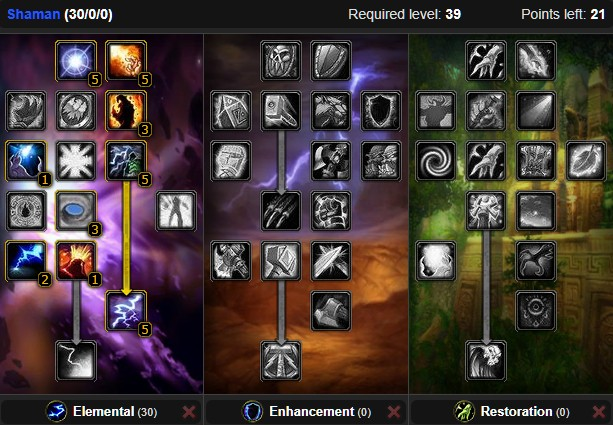 Wow Classic Elemental Shaman Leveling Guide 1 60 Wow Classic Icy Veins Shaman Leveling Guide Element