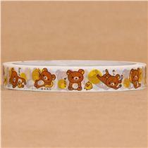 lazy Rilakkuma bear Deco Sticky Tape - Animal Tapes - Deco Tapes - Stationery