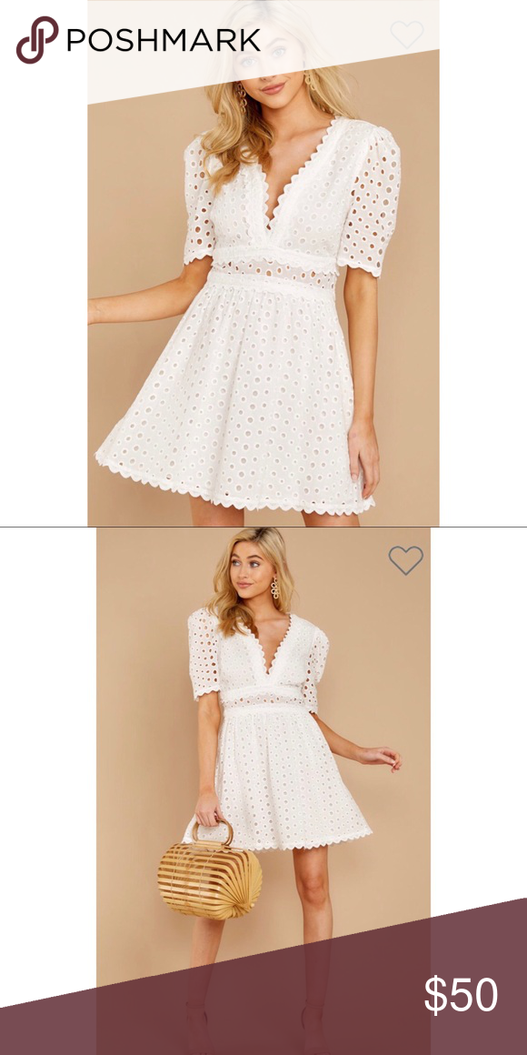 b7532837c96d White Eyelet A-Line Dress Red Dress Boutique Southern Calling White Lace  Dress - eyelet