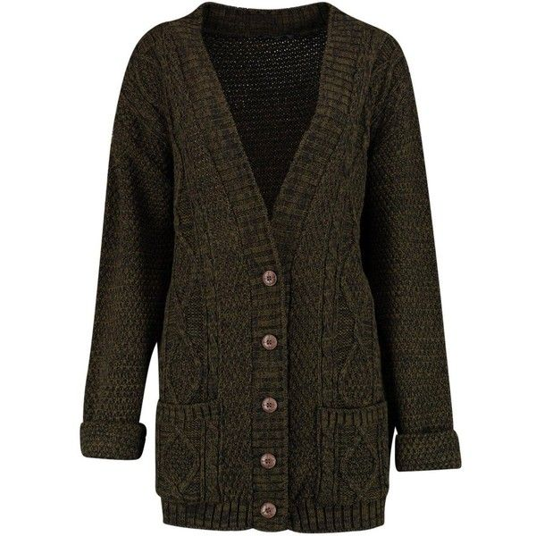 Boohoo Daisy Marl Boyfriend Cardigan ($26) ❤ liked on Polyvore featuring tops, cardigans, chunky turtleneck, boyfriend cardigan, turtle neck top, going out tops and chunky cardigan