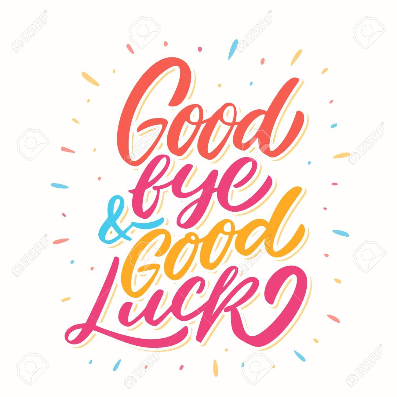 Goodbye And Good Luck Farewell Card Throughout Goodbye Card Template Professional Template Ideas Goodbye And Good Luck Farewell Cards Good Luck Cards
