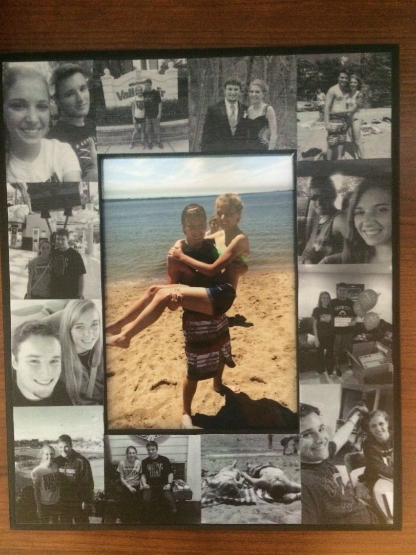 i made this picture frame as a going away present for my boyfriend