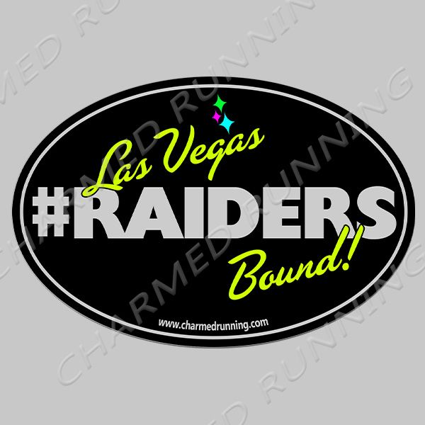 Raiders oakland raiders move to las vegas nfl bumper sticker